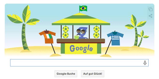 WM Brasilien Google Doodle nach dem Spiel Elfenbeinküste gegen Griechenland