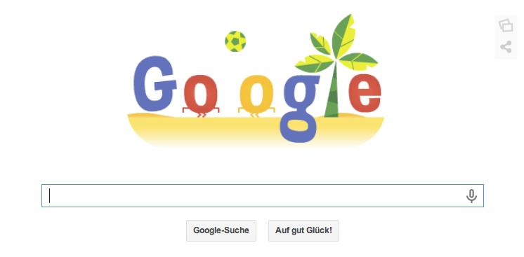 WM Doodle zur WM 2014 in Brasilien vom 26.06.2014 - Abends dann Deutschlandspiel gegen USA