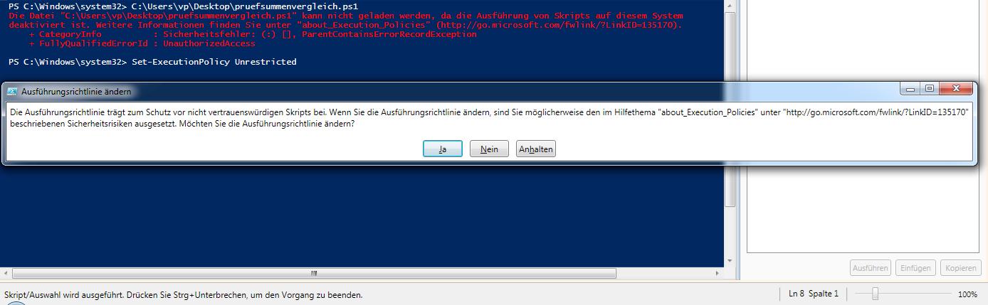 PowerShell Skript-Ausführung deaktiviert - Hier ändern wir die Ausführungsrichtlinie