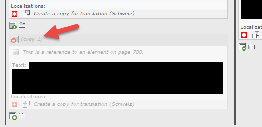 Copy 1 deaktivieren bzw. das Content Element kopieren ohne copy oder Translate to angefügt zu bekommen