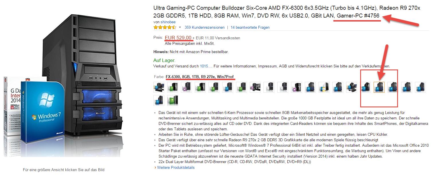 Günstiger und überdurchschnittlicher guter Gamer PC in den Amazon Angeboten