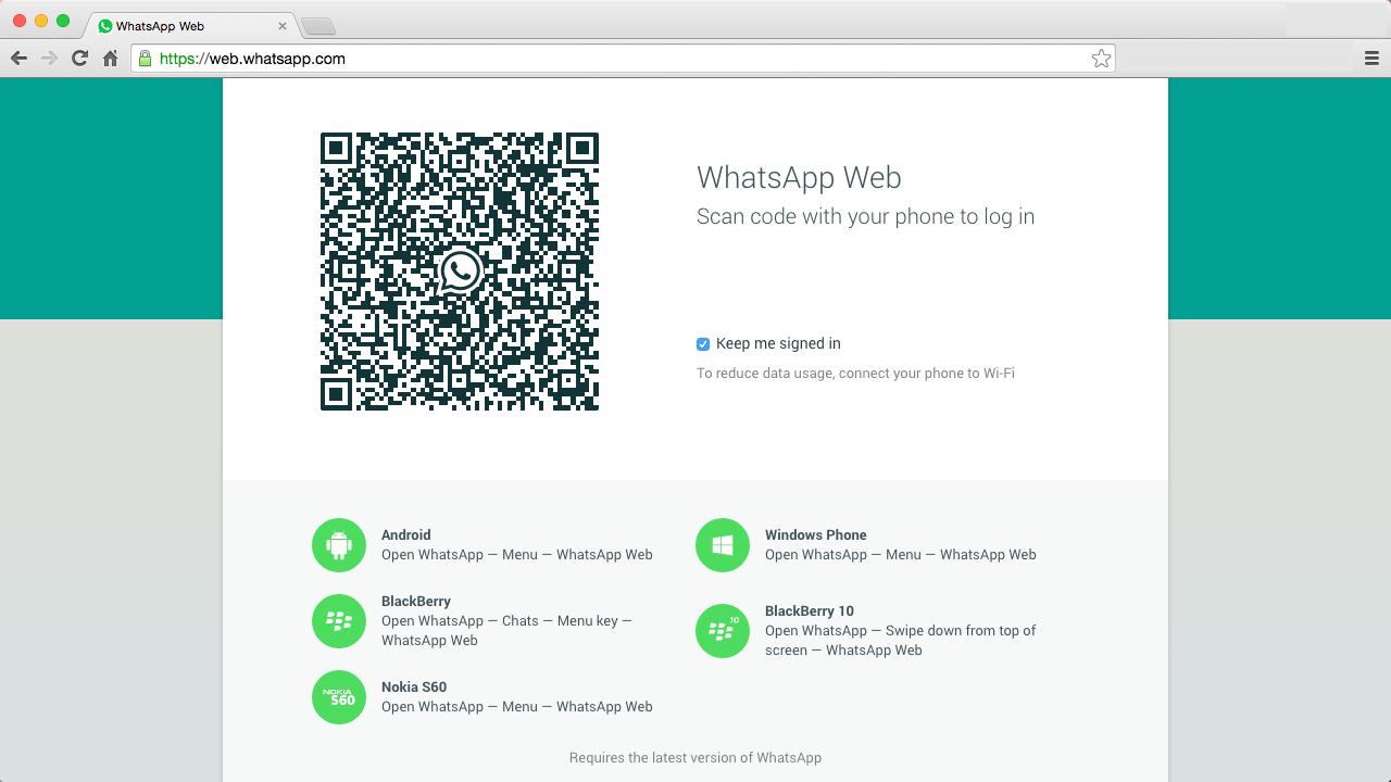 WhatsApp Web - So sieht der WhatsApp Web-Client aus. Endlich kann man vom PC, Mac oder anderen Rechnern WhatsApp-Nachrichten schreiben