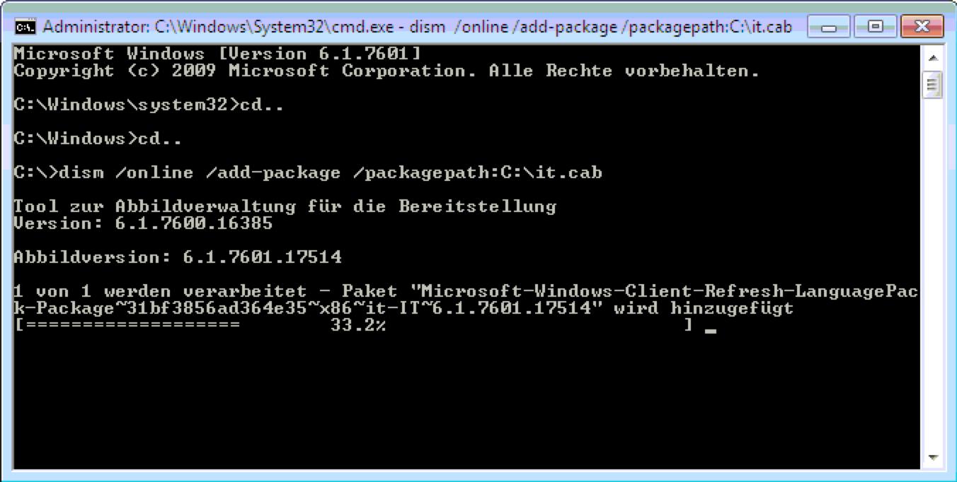 Windows 7 Sprache wechseln funktioniert auch in Windows 7 Home und Professional