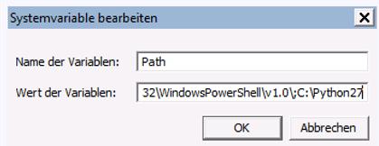 Dropbox Alternative Seafile Server einrichten - So schaut es aus, wenn man eine Systemvariable bearbeiten will
