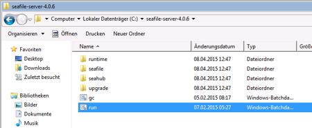 Dropbox Alternative Seafile Server einrichten - Navigiere in das Seafile Server Verzeichnis