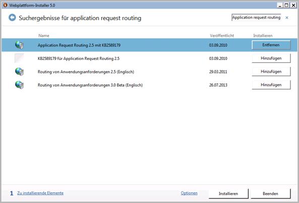 Dropbox Alternative Seafile Server einrichten - Application request routing installieren