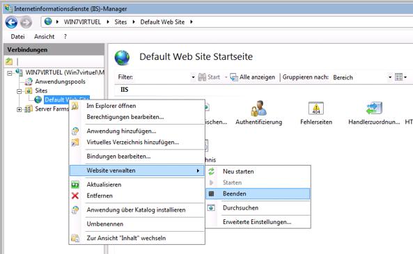 Dropbox Alternative Seafile Server einrichten - Jetzt muss eine Umleitungsseite eigerichtet werden