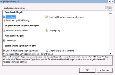 Dropbox Alternative Seafile Server einrichten - Es geht um die unter dem Screenshot zu sehenden leere Regeln