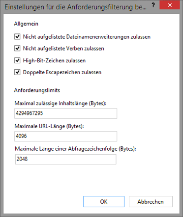 Dropbox Alternative Seafile Server einrichten - Maximal zulässige Inhaltslänge (Bytes)