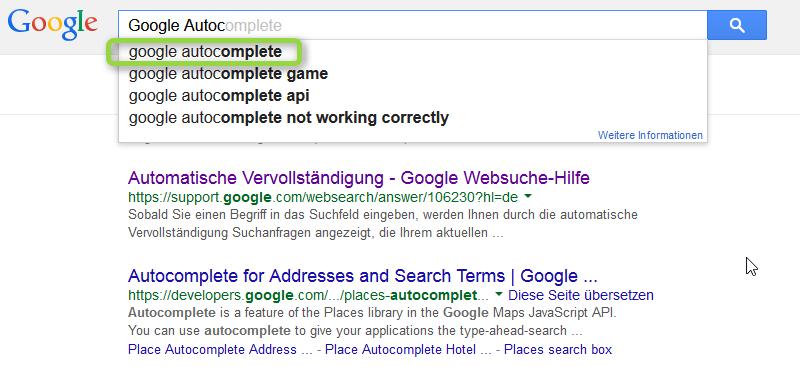 Google Autocomplete endet zum 10. August 2015