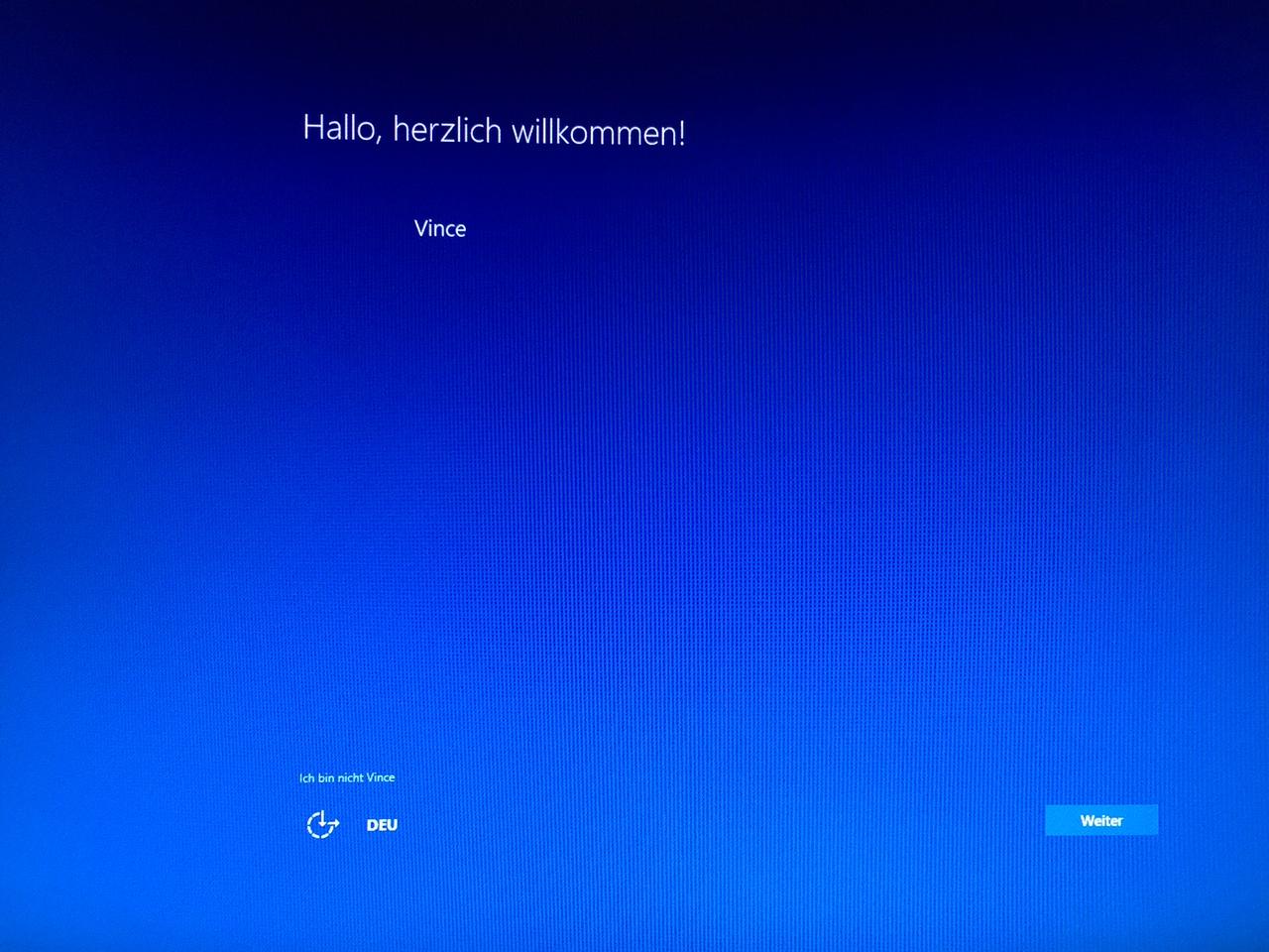 Windows 10 Installation beendet