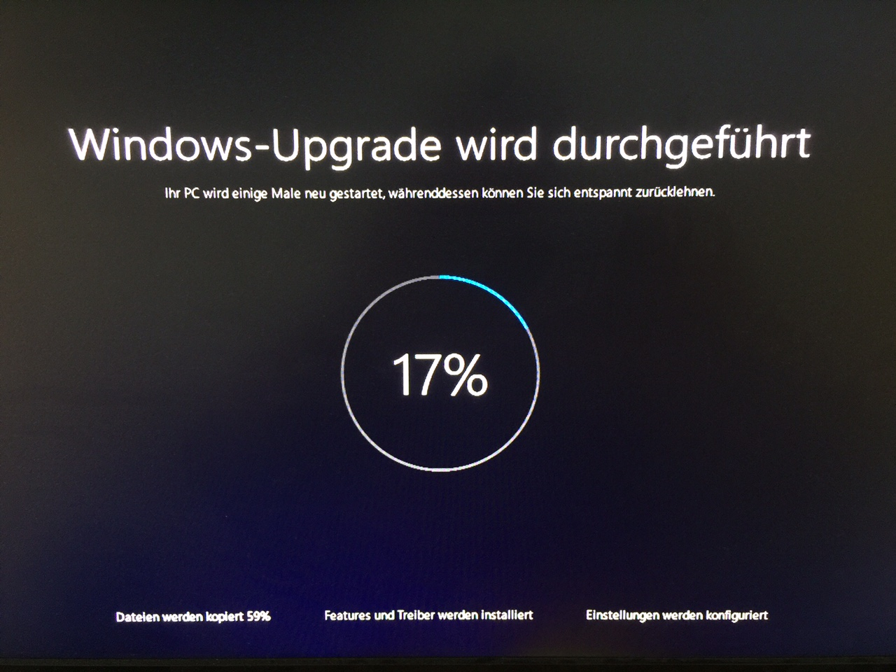 Windows 10 Installation als Upgrade