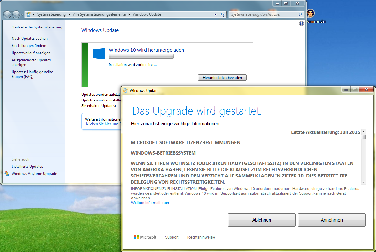 Windows 10 Update herunterladen