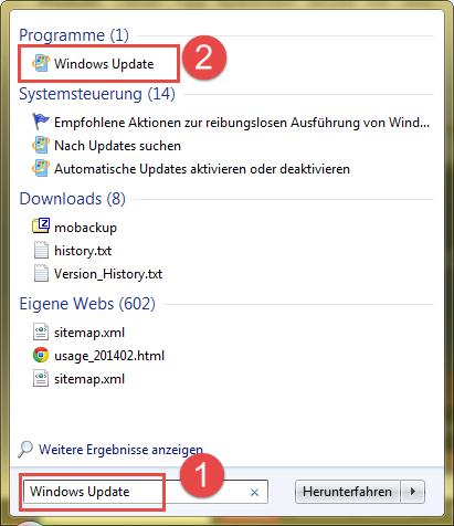 Windows 7 Updates suchen und installieren!