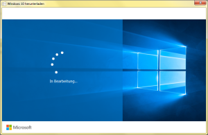 Windows 10 in Bearbeitung Upgrade hängt