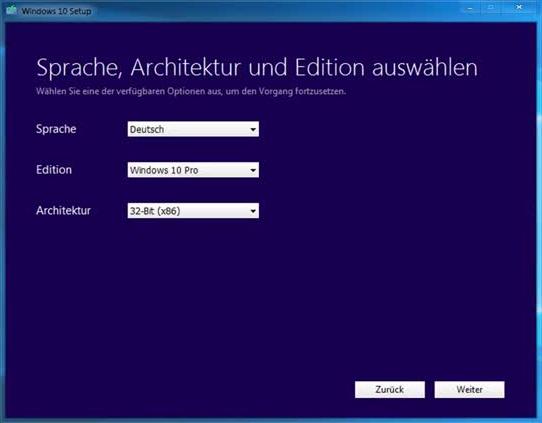 Windows 10 installieren ohne warten auf das Update