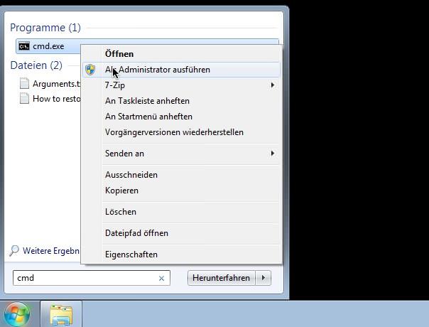 Windows 7 Upgrade als Vollversion installieren