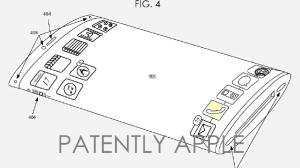 IPhone 7 с изогнутым дисплеем по рисунку запатентованный APPLE (патент).