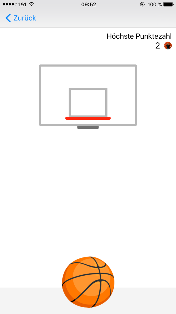 Verstecktes Basketball Spiel im Facebook Messenger