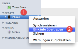 iTunes Einkäufe übertragen: So war das früher