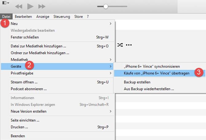 iTunes Einkäufe übertragen: So schaut das heute aus!