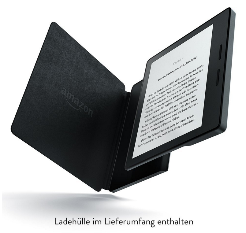 Kindle Oasis Ladehülle im Lieferumfang dabei