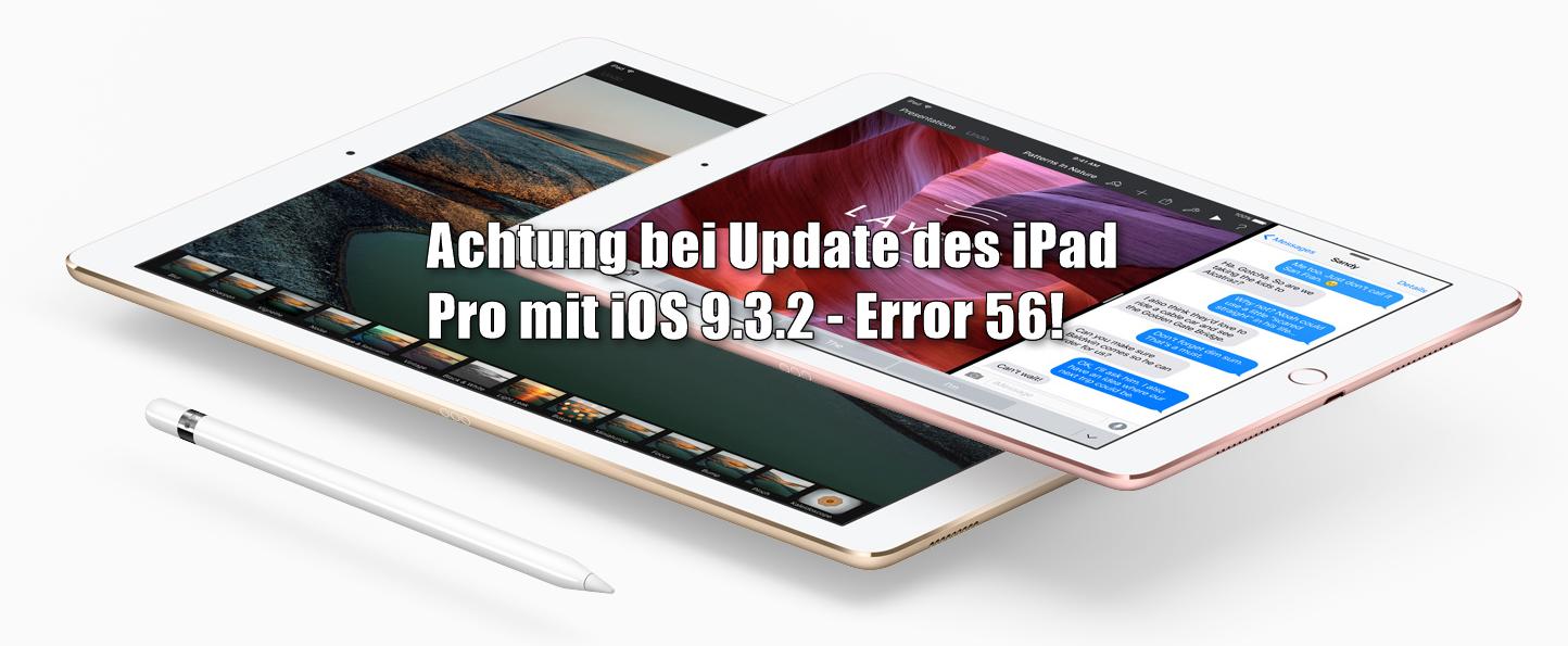 Error 56 iPad Pro