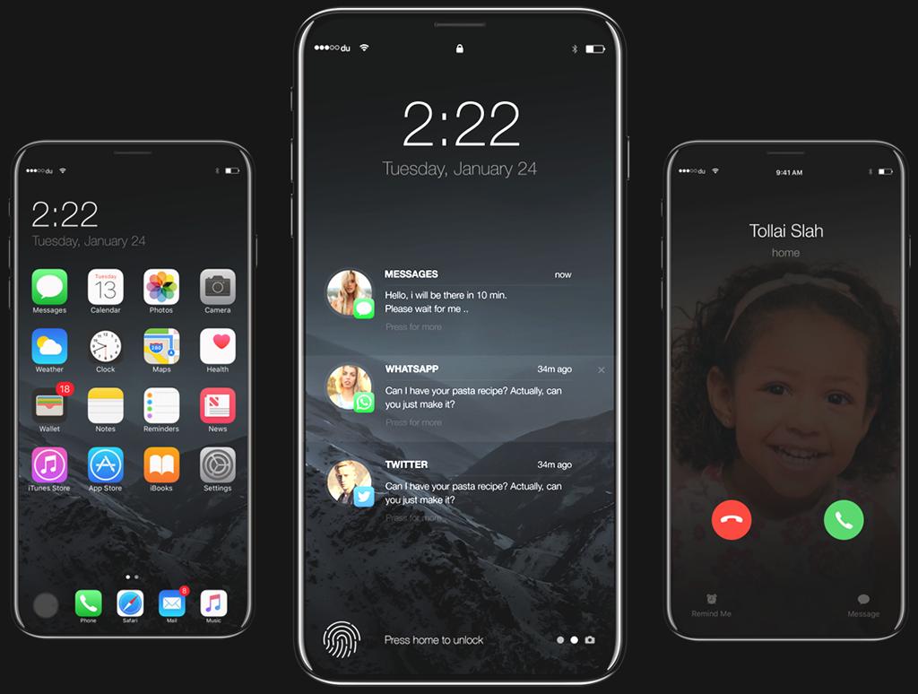 iPhone 8 Release: Designstudie bzw. iPhone-8 Konzept von Moe Slah von behance.net