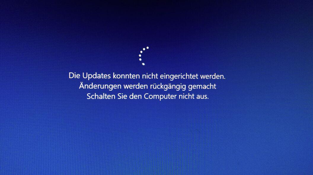 Windows 10 Update Fehlgeschlagen änderungen Werden Rückgängig Gemacht