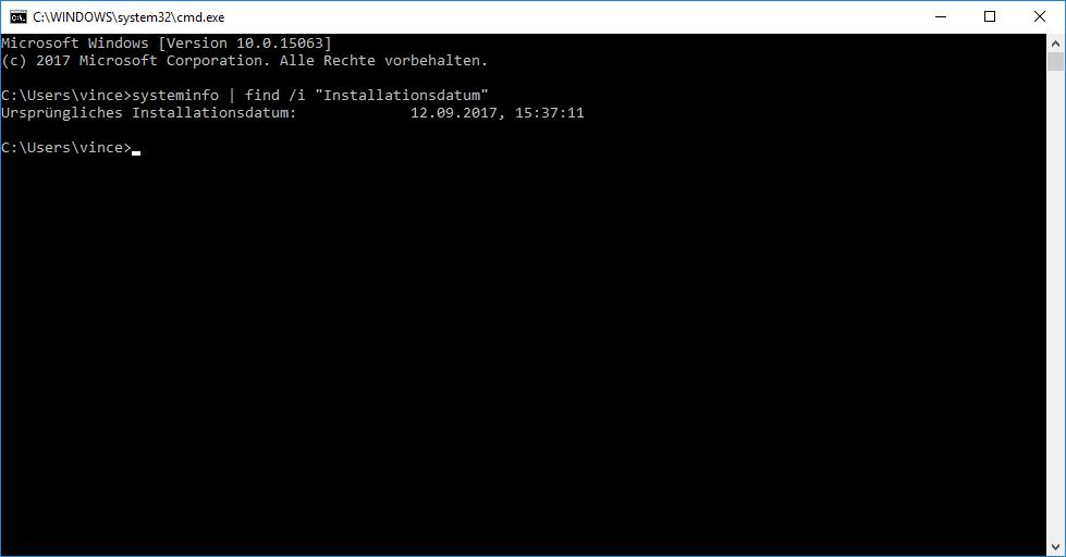 Windows Installationsdatum mit CMD-Befehl herausfinden!