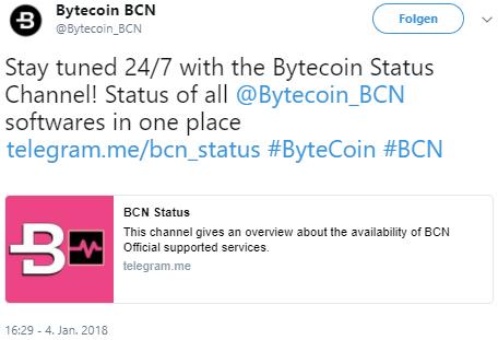 Klicke auf das Bild, um die Mega-Bytecoin News auf Twitter zu lesen!