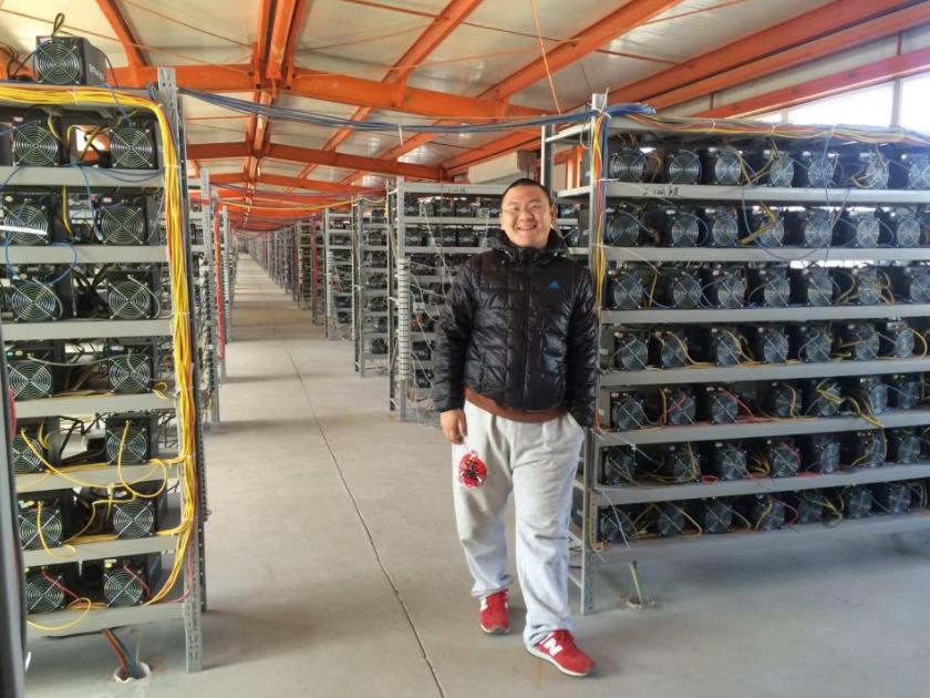 Typisches Chinesische Bitcoin-Miningfarm