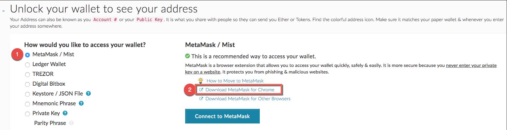 Klicke den Punkten folgend, um das MetaMask-Plugin für Chrome zu installieren!