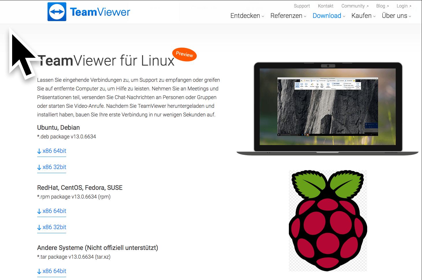 Der TeamViewer ist nun für jedes Betriebssystem kostenlos einzusetzen - Voraussetzung ist der rein private Gebrauch! Das ist eine wirklich tolle News! Selbst für den Raspberry Pi gibt es eine Version.