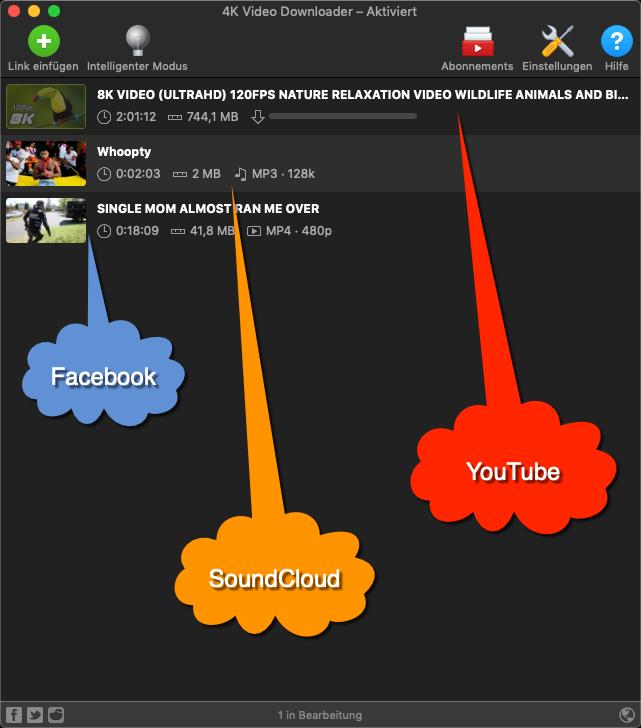 Der 4K Video Downloader kann auch Musik extrahieren und arbeitet Plattformübergreifend